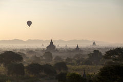 Forntida plats av Bagan i Burman (Myanmar) Arkivfoton