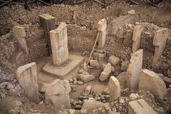 Forntida plats av Göbekli Tepe i sydliga Turkiet royaltyfri bild