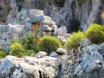 Forntida platser fördärvar av historien för den forntida staden Arkivfoto