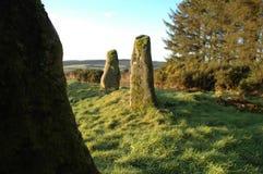 forntida plattform stenar Arkivfoton