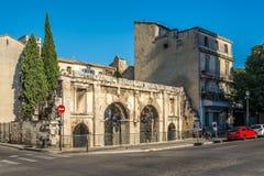 Forntida Porta Augusta av Nimes Royaltyfri Fotografi