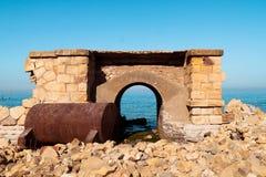 forntida portal Fotografering för Bildbyråer
