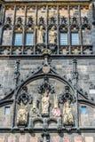Forntida prasnabrana Ingång till den gamla stadsfjärdedelen av Prague Royaltyfri Bild