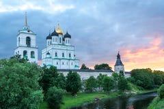 Forntida Pskov Kremlin Fotografering för Bildbyråer