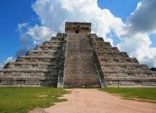 Forntida pyramid i Mexico Arkivfoto