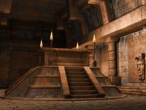 Forntida pyramidaltare Arkivbild