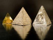 forntida pyramider royaltyfria bilder