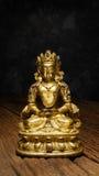 Forntida Quan Yin - buddistisk gudinna av förskoning Arkivbild