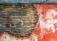 Forntida rött för gammal grungy för tegelstenvägg tappning för konst idérik Royaltyfria Bilder