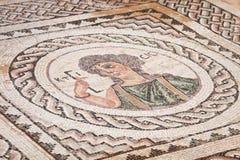 Forntida religiös mosaik i Kourion, Cypern Royaltyfri Bild