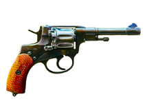 Forntida revolver Arkivbild