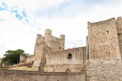 Forntida $rochester slott i kent UK England Arkivfoto