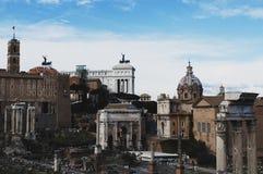 Forntida Roma forum Royaltyfri Foto