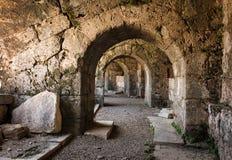 Forntida roman amfiteater. Arkivbild