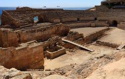 Forntida roman amfiteater i Tarragona Fotografering för Bildbyråer