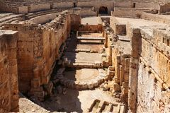 Forntida roman amfiteater i Tarragona Royaltyfri Bild