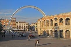 Forntida roman amfiteater i Verona Royaltyfri Foto