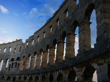 forntida roman arenacroatia pula Royaltyfri Bild