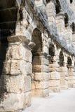 forntida roman arenafragment för amfiteater Arkivfoto