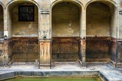 Forntida roman bad, stad av badet, England Arkivfoton