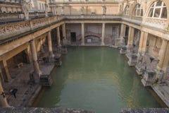 Forntida Roman Baths Fotografering för Bildbyråer