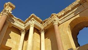 Forntida Roman City - Beit Shean Arkivbilder