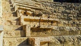 Forntida Roman City - Beit Shean Arkivfoton