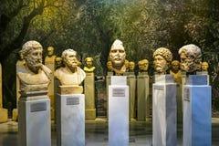 Forntida Roman Emperor Statues National Archaeological museum Ath royaltyfria bilder