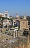Forntida Roman Forum, ROM-minne, Itly 08 Royaltyfria Foton