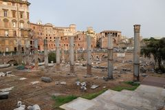 Forntida Roman Forum, Rome arkivbilder