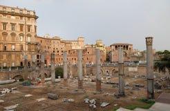 Forntida Roman Forum, Rome royaltyfri fotografi