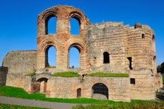 Forntida Roman Kaiserthermen i Trier Arkivfoton