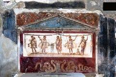 Forntida roman målning royaltyfri foto