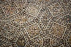 Forntida roman mosaikgolv Royaltyfria Foton