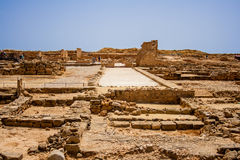 Forntida Roman Ruins i Cypern Royaltyfria Foton