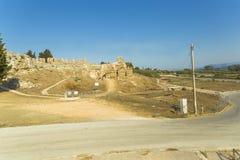 Forntida roman teater i Nikopolis Preveza Grekland royaltyfri bild