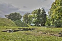 Forntida roman teater i Oise, Frankrike arkivbilder