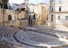 Forntida Roman Theatre fördärvar i Lecce, Italien Royaltyfria Bilder