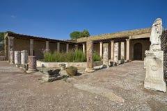 forntida roman villa royaltyfria foton