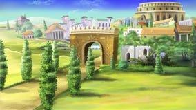 Forntida Rome och Coliseum Arkivbild