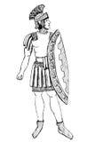 Forntida Rome Pretorian krigare Royaltyfri Foto