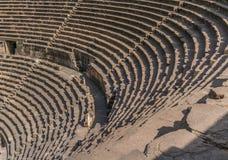 Forntida romersk amfiteater Royaltyfria Bilder