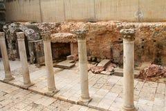 Forntida romersk Cardo gata. Royaltyfri Bild