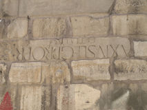 Forntida romersk vägg Royaltyfria Bilder