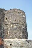 Forntida romersk vägg Arkivfoton