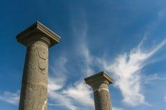 Forntida romerska kolonner Arkivfoto