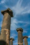 Forntida romerska kolonner Arkivbilder