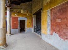Forntida romerskt hus i Pompeii Arkivbild