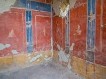 Forntida romerskt hus i Pompeii Royaltyfria Bilder