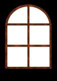 forntida rostigt fönster Royaltyfria Bilder